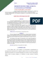 Cinetica de Adsorcion de Cobre II Por Oligogalacturonidos