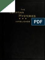 Iamblichus Theurgia or the Egyptian Mysteries