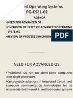 Introduction to advanced OS