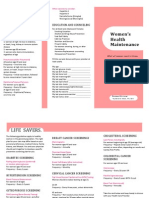 Women's  Health Maintenance Pamplet