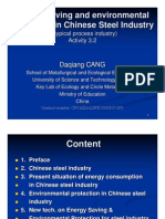 Chinese Steel Industry Energy and Environmnt-USTB