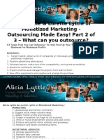 Alicia Lyttle & Lorette Lyttle of Monetized Marketing - Outsourcing Made Easy! Part 2 of 3 – What can you outsource?