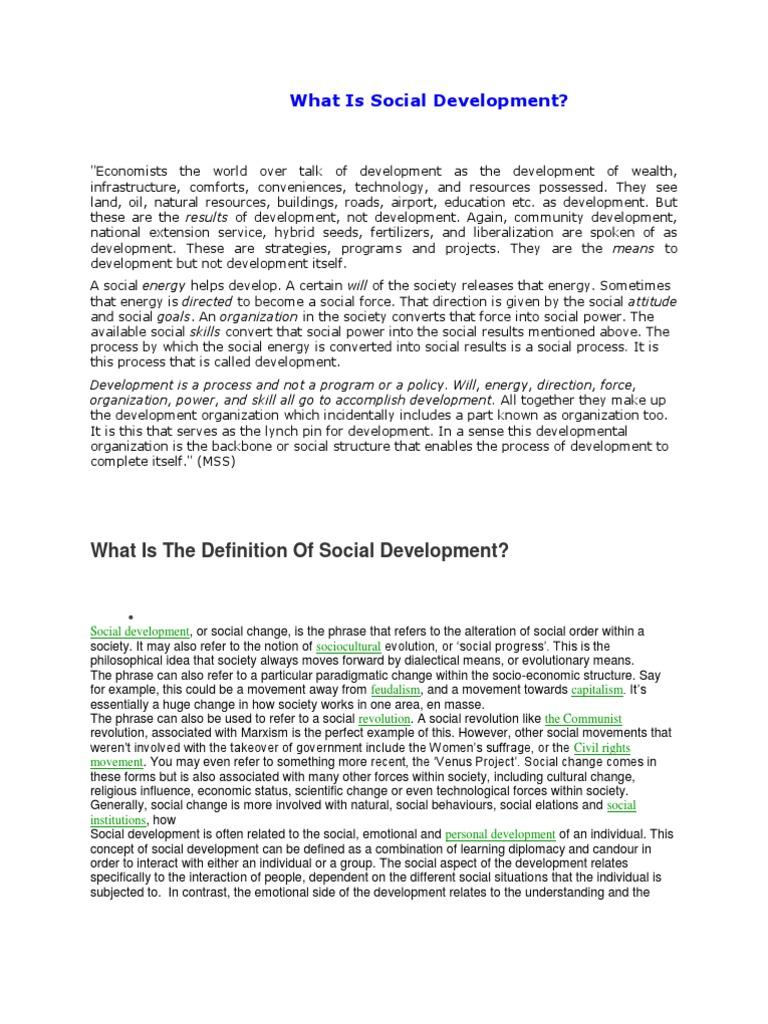 social development | social change | capitalism