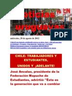 Noticias Uruguayas miércoles 29 de agosto del 2012