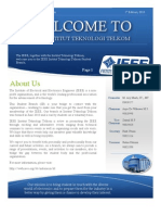 IEEE SB ITT Newsletter 1st Edition