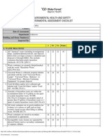 Assessment Checklist Environmental