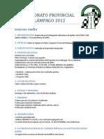 CAMPEONATO PROVINCIAL RELÁMPAGO 2012