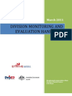Division M&E Handbook (It Has Lots of Revisions) Pls. See FINAL Set of Guidelines for Core Proces