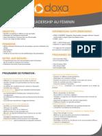 Formation Management Leadership au féminin 2012-2013