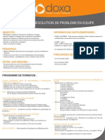 Formation Management Faciliter la resolution de probleme en équipe 2012-2013