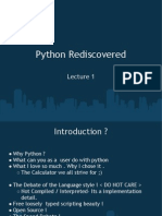 Python Rediscovered