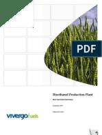 Bio Ethanol Production Plant Non Technical Summary 4009