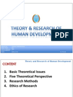 Theory and Research of Human Development