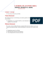 DR.IQ.KHAN SCHOOL OF ANATOMY (IQSA); KHAN KIDNEY HOSPITAL LAHORE, PAKISTAN