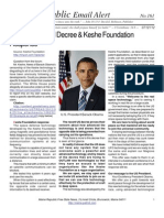 161 - U.S. Presidential Decree and Keshe Foundation Response