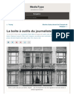 La Boîte à outils du journaliste web - Nicolas Becquet