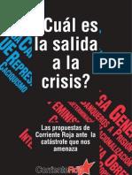 ¿Cuál es la salida a la crisis?