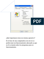 Qué importancia tiene un sistema operativo