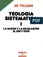 Tillich, Paul - Teologia Sistematica I