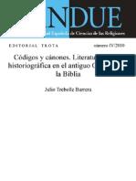 Trebolle, Julio - Codigos y Canonoes, Literatura Legal e Historeografia en El Antiguo Oriente