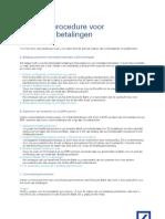Betalingsinstructie Deutche Bank