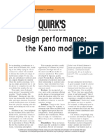 Design Performance the Kano Model