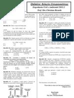 Apostila - Relações Estequiométricas - Engenharias FTC 2011.2
