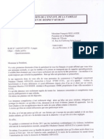 Courrier adressé à HOLLANDE
