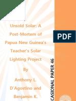 """Unsold Solar"