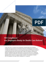 HR Compliance- Are Employers Ready for Health Care Reform