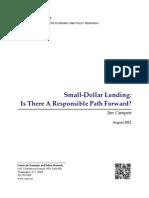 Small-Dollar Lending