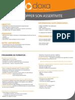 Formation efficacité professionnelle et développement personnel pour développer son assertivité 2012-2013