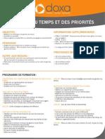 Formation efficacité professionnelle et développement personnel Gestion du temps et des priorités 2012-2013