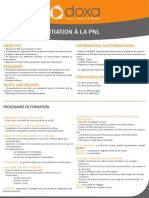 Formation efficacité professionnelle et développement personnel Initiation à la PNL 2012-2013