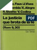 Varios Autores - La Justicia Que Brota de La Fe