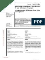 NBR-13543 (Movimentação de Carga - Laço de Cabo de Aço - Utilização e Inspeção)