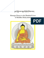 Homage Prayer to the Hundred Lives of Buddha Shakyamuni - Third Karmapa, Ranjung Dorje - 39-En
