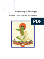 """Jetzun Milarepa's Guru Yoga and Tsok Offering, known as """"The Blazing Torch of Wisdom, also proclaimed as the prayer in praise of the supreme Practice Lineage """"The Wish-fulfilling Tone"""" - 57-en"""