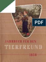 Jahrbuch für den Tierfreund - 1958