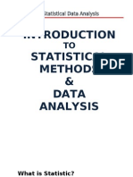 1. Statistical Method and Data Analysis - Introduction
