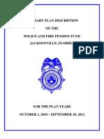 PFPF Summary Plan Booklet 2010 2012