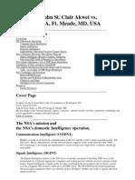 John St. Clair Akwei vs. NSA, Ft. Meade, MD, USA