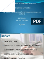CRITERIOS DE SELECCIÓN DE LOS REDUCTORES DE TAMAÑO ppt