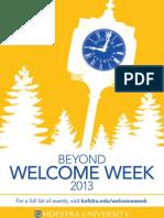 Beyond Welcome Week 2013