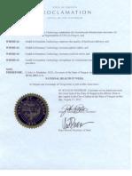Oregon Health IT Week 2012 Proclamation