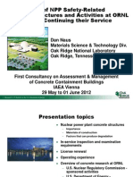 An Overview of NPP Safety-Related Concrete Structures and Activities at ORNL in Support of Continuing Their Service