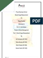 Brand Image Measurement of Maggi noodels