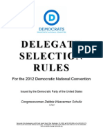 DNC 2012 Delegate Selection Rules