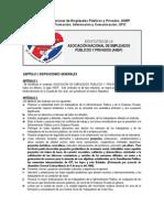 Estatutos de la ANEP, 2008