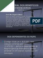 SLIDES - teoria geral dos beneficios previdenciarios - parte 2